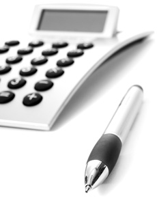 Calculator and Pen - Chichester Accounting